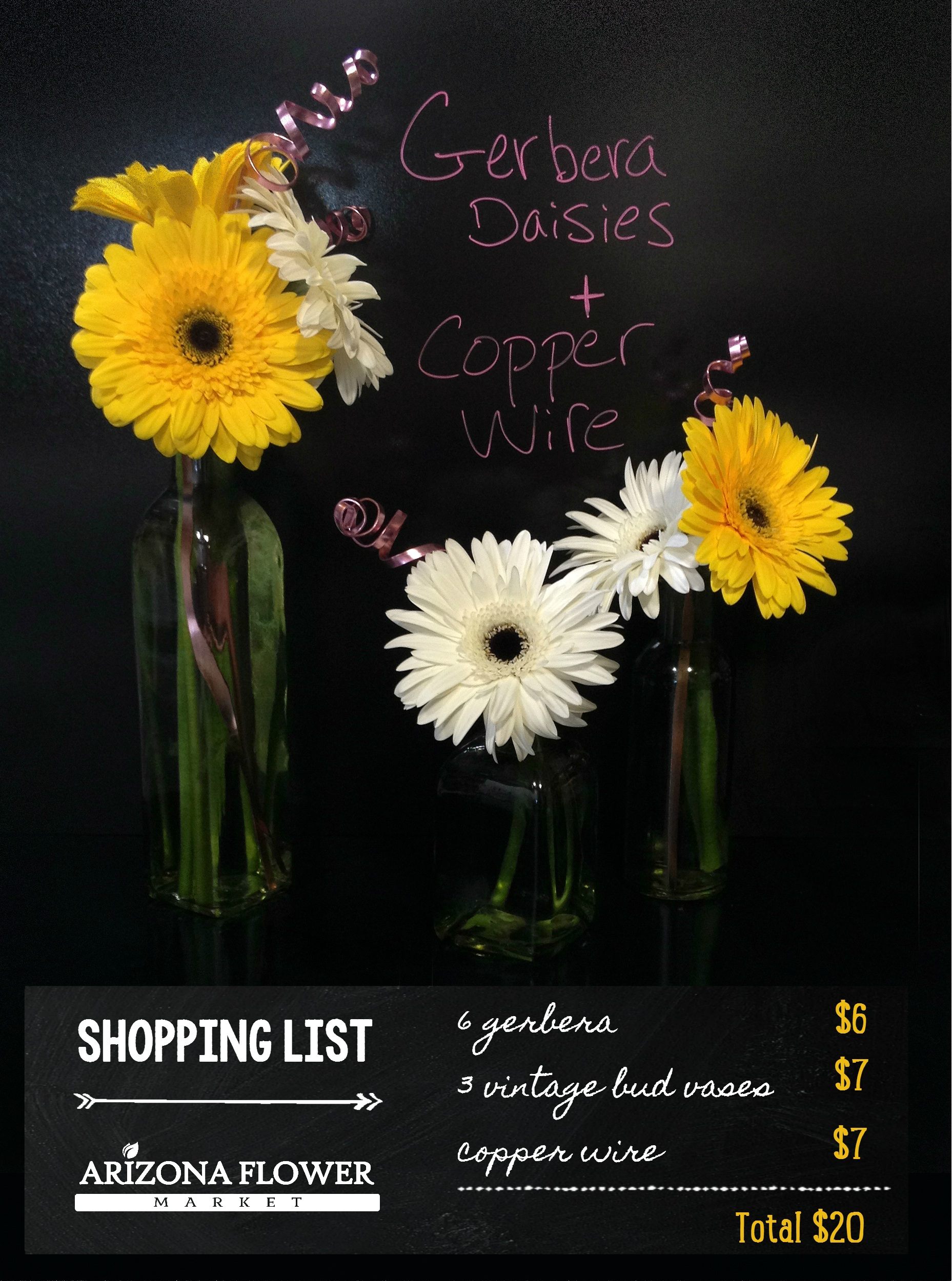 crafts for kids: gerbera bud vase arrangement